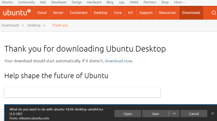 Ubuntu Desktop download