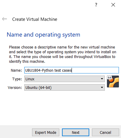Creating the VM