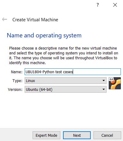 Creating the VM