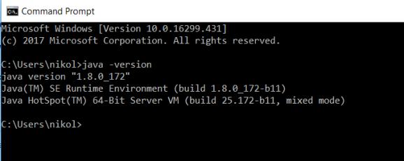 Java installation finish